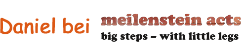 Daniel bei meilenstein acts - big steps with little legs
